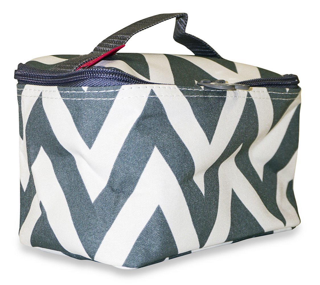 Amazon.com   Ever Moda Chevron Makeup Bag (Gray)   Beauty 0eee8bd2ecd88