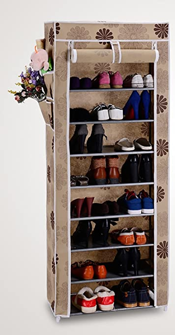 Evana Nine Layer Flower Print Shoe Rack/Shoe Shelf/Shoe Cabinet ...