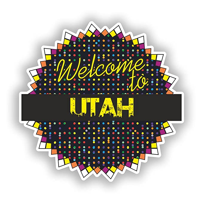 2 x Welcome To Utah Vinyl Stickers Travel Luggage #7740