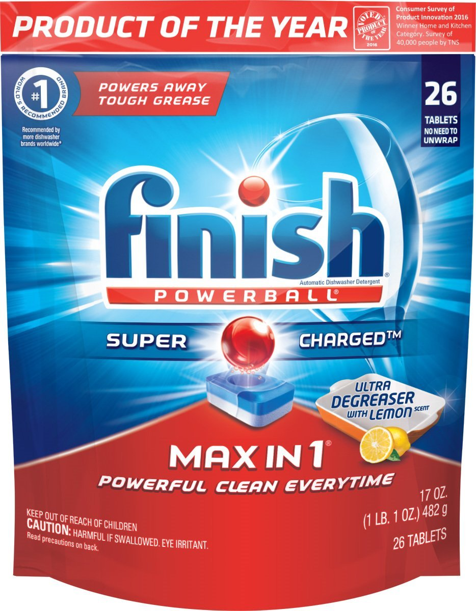 Finish Max in 1 Powerball, Dishwasher Detergent Tablets - Dish Tabs (Packaging May Vary), 23 Count (Pack of 1)