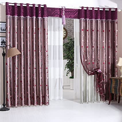 amazon com curtain full blackout shade double curtain europeancurtain full blackout shade double curtain european garden living room bedroom curtains a 360x260cm(
