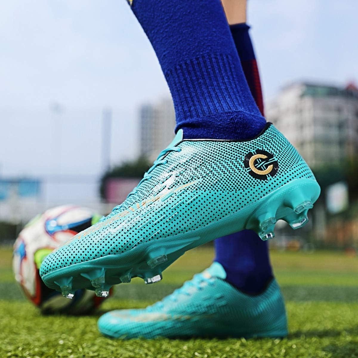 AX Chaussures de Football Adulte Adolescents Entra/îneurs de Football Profession Athl/étisme Entrainemen