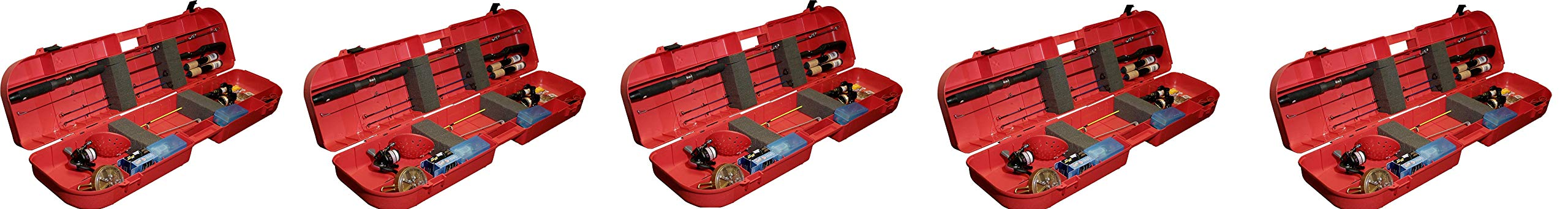 MTM Ice Fishing Rod Box (Red) (Pack of 5)