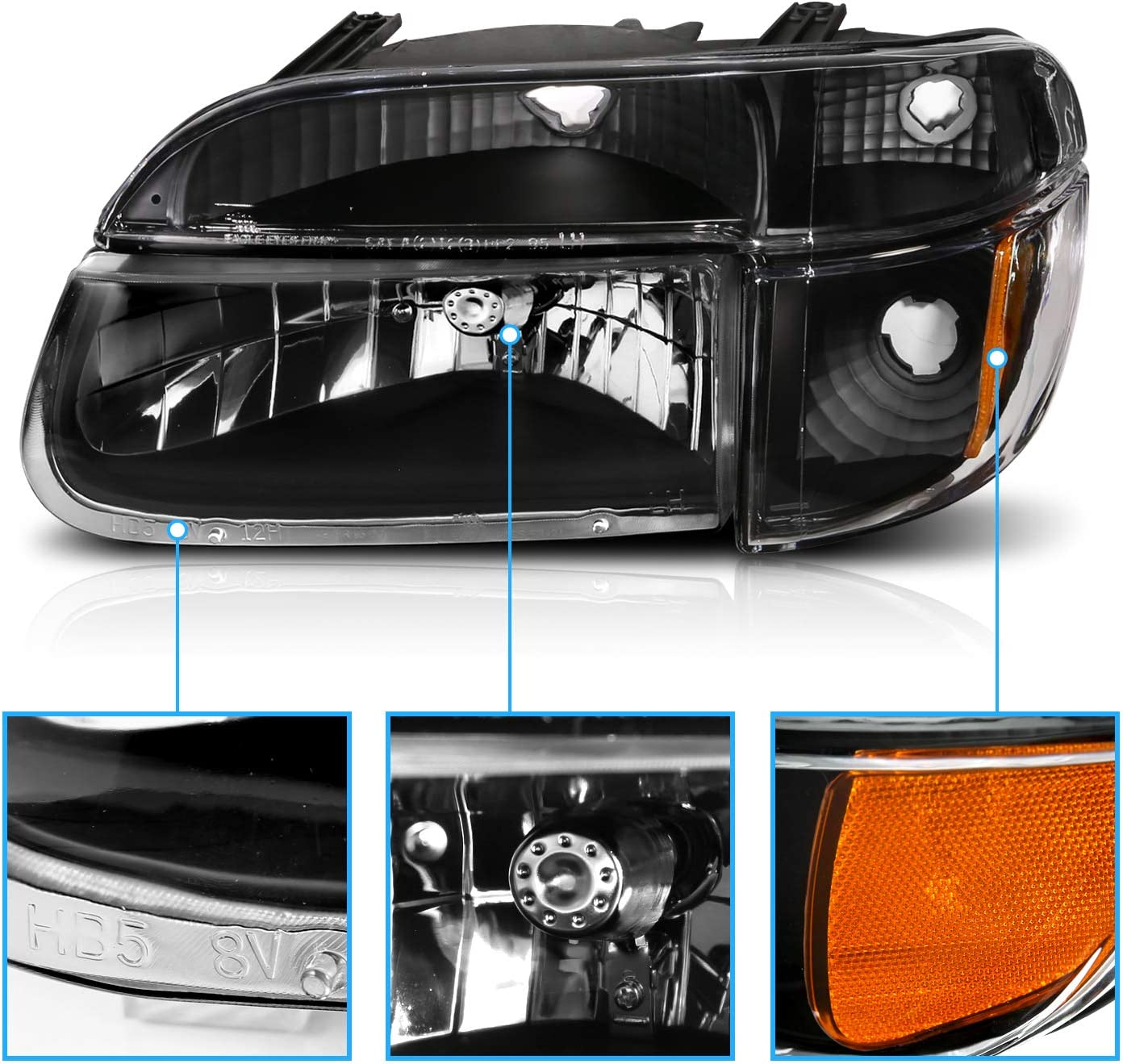 -Chrome 100W Halogen 2010 Nissan PATHFINDER Post mount spotlight 6 inch Driver side WITH install kit