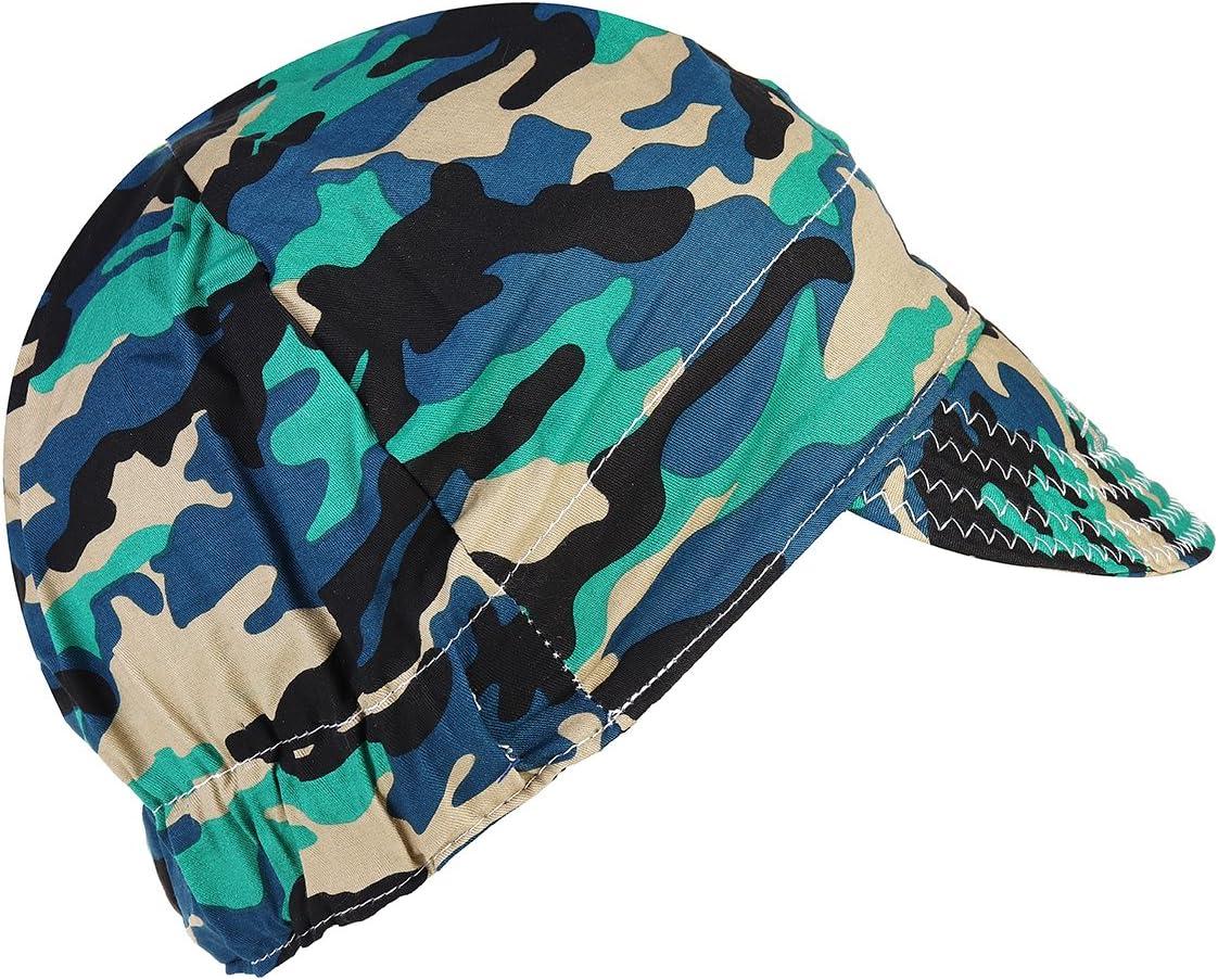 ILS Verano ajustable camuflaje delej/ército algod/ón absorci/ón sudor capucha sombrero de soldadores el/ásticos soldadura