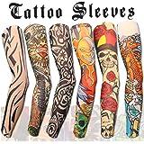 bc6da22af Akstore 6pcs Set Arts Fake Temporary Tattoo Arm Sunscreen Sleeves Designs  Tiger, Crown Heart,