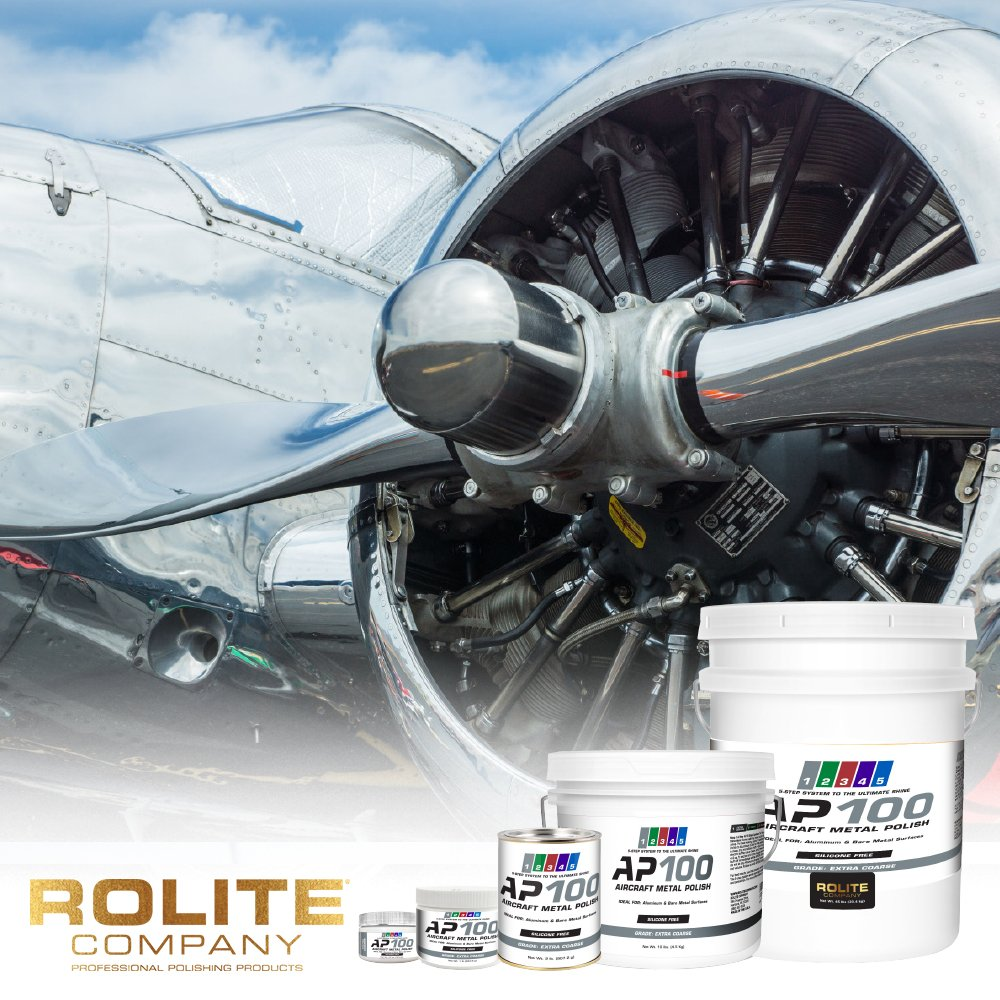 AP100 Aircraft Metal Polish (2lb) - Extra Coarse - for Airplane Aluminum & Bare Metal Surfaces, Brightwork, Leading Edges - Meets Requirements of Boeing and Airbus - Minimal Sling - Low Odor by Rolite (Image #2)