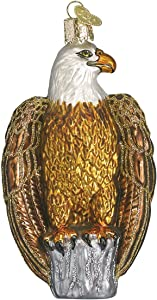 Old World Christmas Political Gifts Glass Blown Ornaments for Christmas Tree Bald Eagle