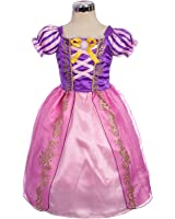 Dressy Daisy Girls' Princess Rapunzel Dress up Fairy Tales Costume Cosplay Party