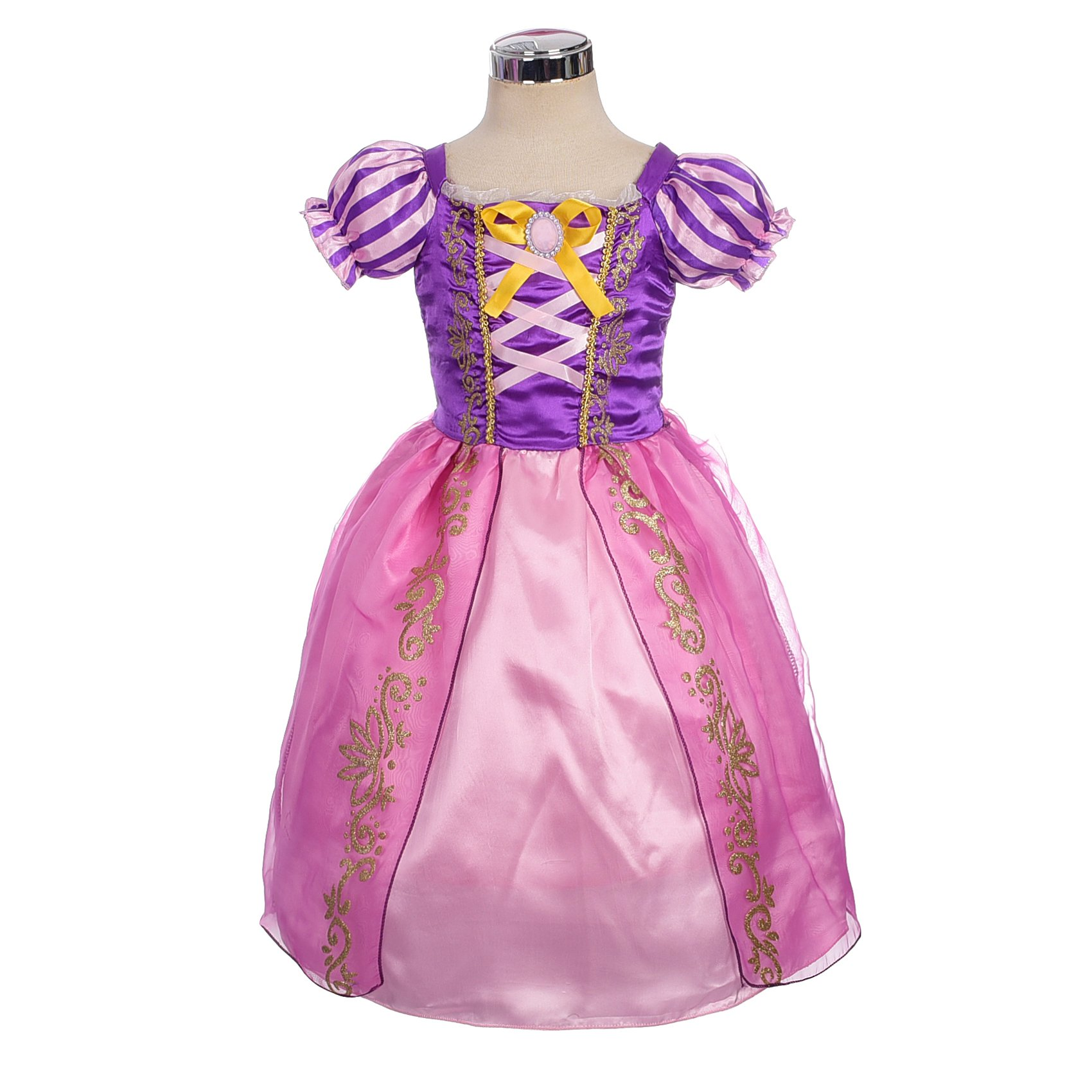 Dressy Daisy Girls' Princess Rapunzel Dress up Fairy Tales Costume Cosplay Party Size 4T