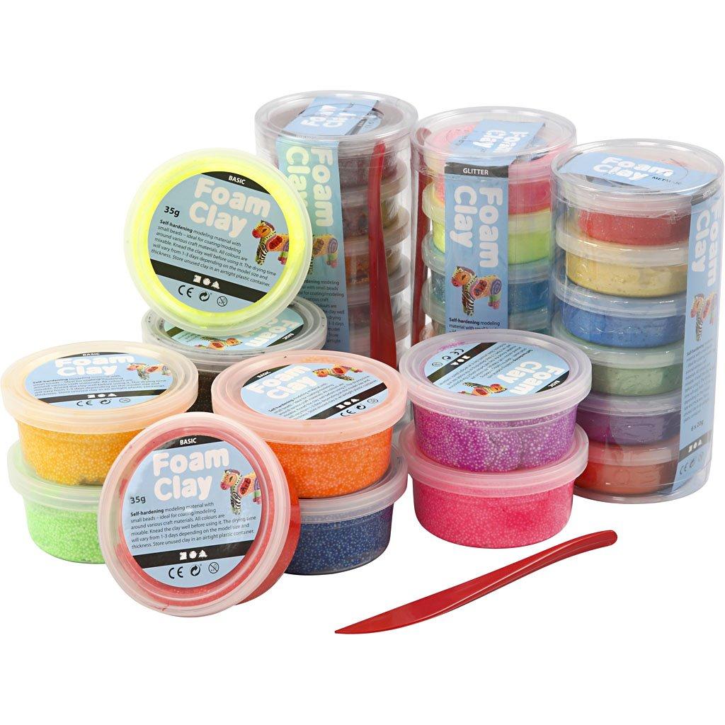 Foam Clay®, sortierte Farben, 28Dosen Foam Clay®