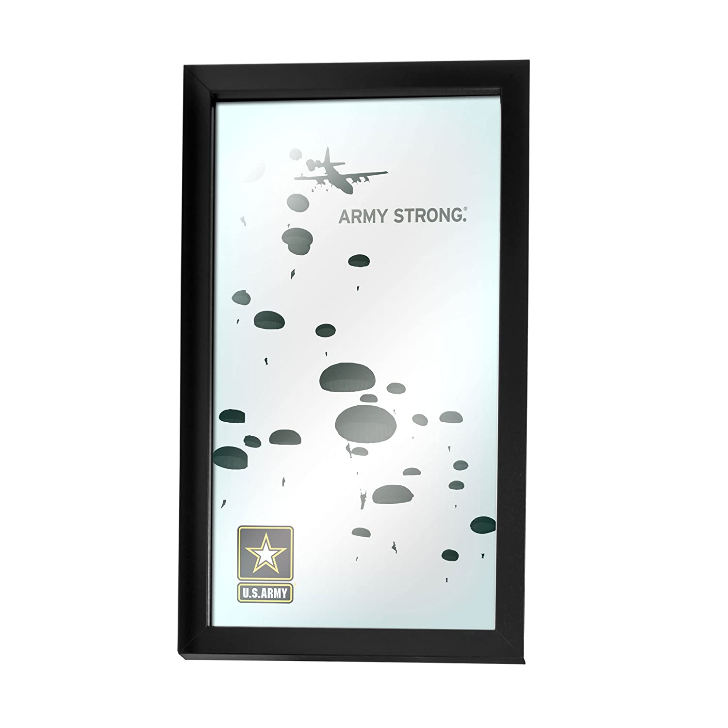 United States Army Silhouette III Framed Logo Mirror