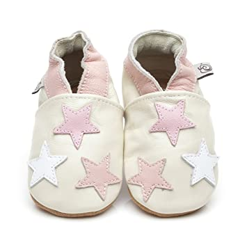 3fe6a05f82b00d Soft Leather Baby Shoes Little Stars Pink 12-18 months  Amazon.co.uk  Baby