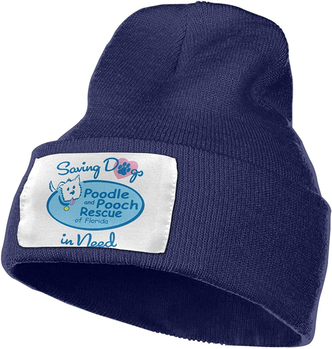 Saving Dogs in Need Rescue Tee Women and Men Skull Caps Winter Warm Stretchy Knitting Beanie Hats
