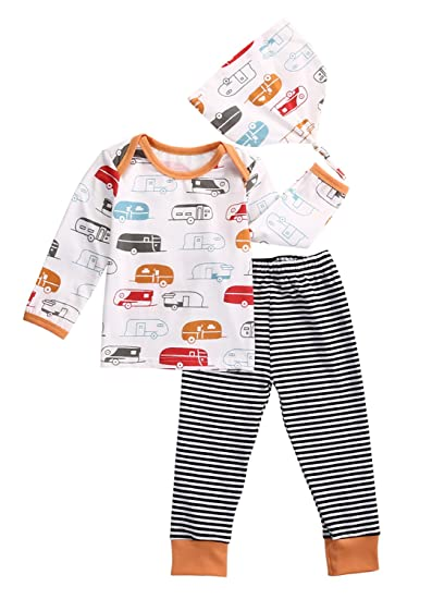Amazon Com Exquise Fille Infant Baby Boy Car Clothes Long Sleeve