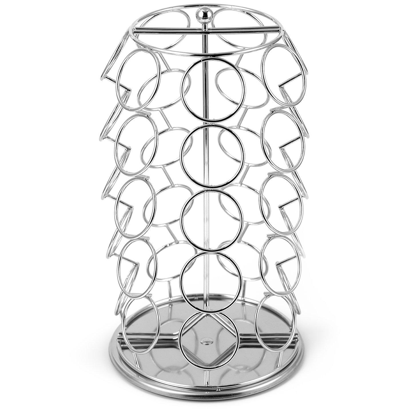 K Cup Holderoak Leaf Coffee Storage Spinning Carousel Organizer For Keurig K-.. 10