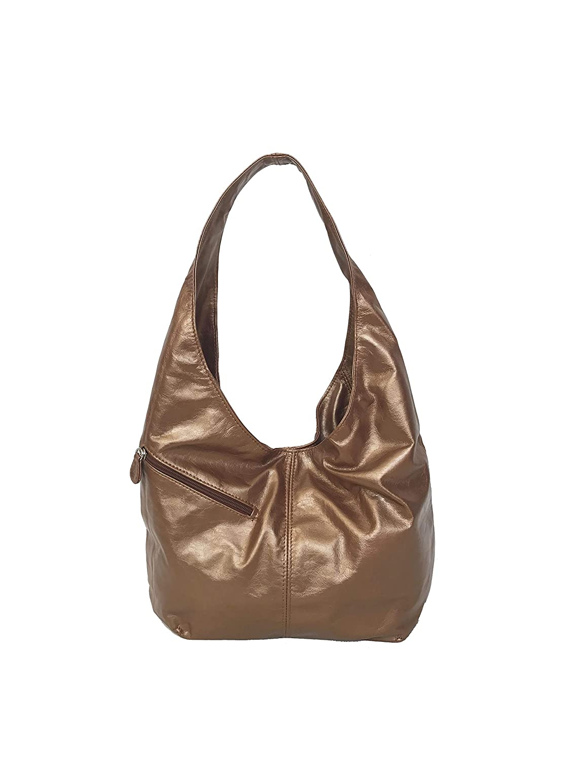 92e0375a54f3 Fgalaze Distressed Camel Leather Hobo Bag w Pockets