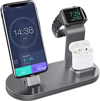 Olebr 3-in-1 Charging Stand for Apple Watch, AirPods and iPhone