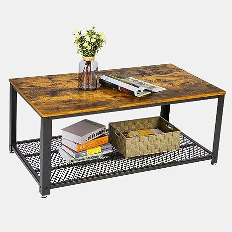 Amazon.com: Vintage Industrial mesa de centro moderna mesa ...