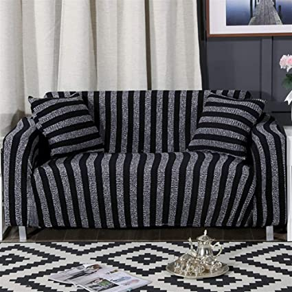 Wondrous Amazon Com Oncefirst 1 Piece Knit Stretch Striped Sofa Andrewgaddart Wooden Chair Designs For Living Room Andrewgaddartcom