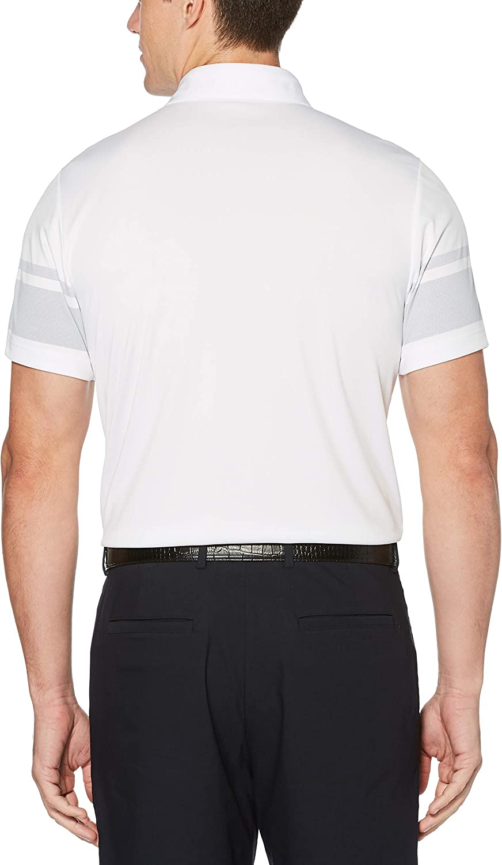 PGA TOUR Mens Short Sleeve Chest Print Polo Shirt