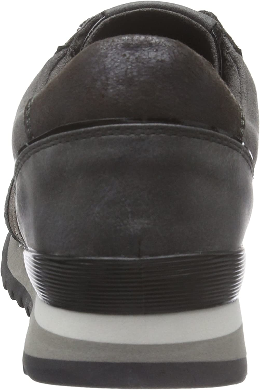 MARCO TOZZI Women's 23714 Low-Top Sneakers Silver Pewter Metal 959