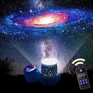 Evening Sleep Romantic LED Starry Night Sky Projector Lamp Rotating Star Light