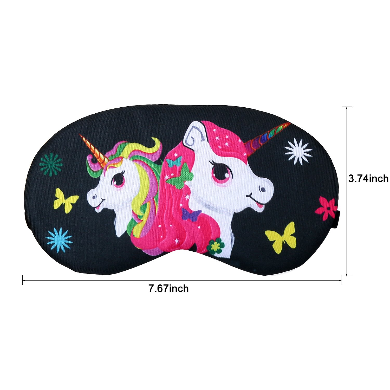 Eccoo House Unicorn Sleeping Mask 5pcs Soft Lightweight Blindfold Eye Cover for Men Women Kids by Eccoo House (Image #4)