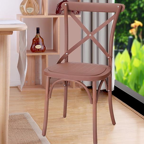 Good Amazon.com: Joveco Eco Friendly Nylon Vintage Style Dining Chair Curved Leg  Cross Back, Cuba Coffee (Set Of 2): Kitchen U0026 Dining