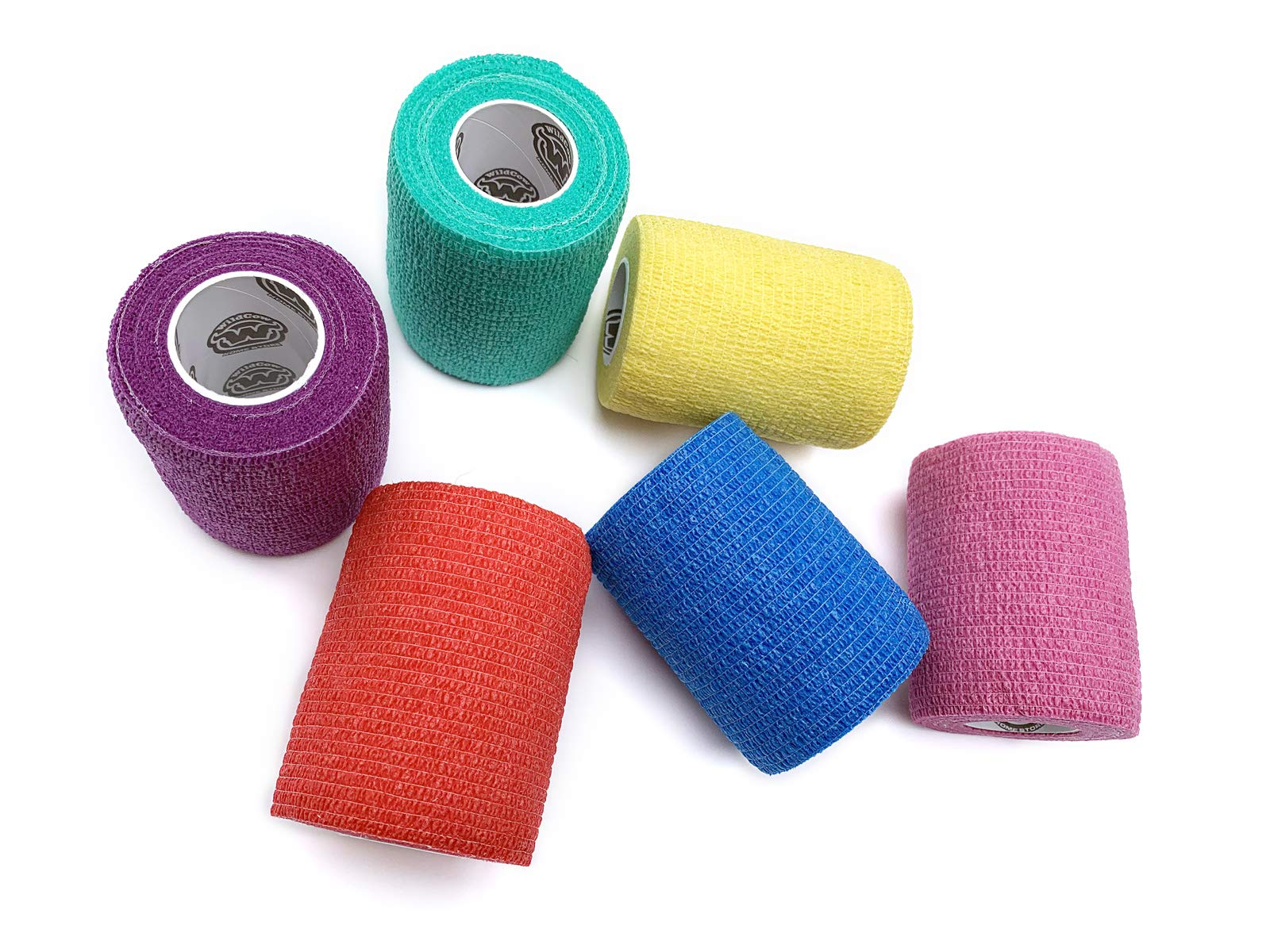 WildCow 3 Inch Vet Tape Wrap Bulk Bandages Colored (Pack of 6) ... by WildCow