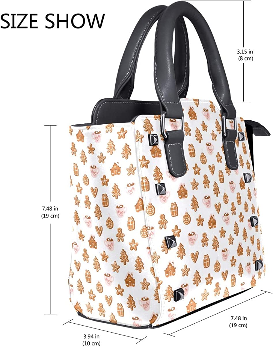 Delicious Christmas Variety Of Cookies Womens fashion Handbags Shoulder Bags Handle Satchel