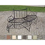 CLP Metall Eckbank / Baumbank JETTE, Eisen lackiert, Stil antik, Größe ca. 140 x 60 cm Bronze