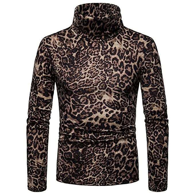 Gran promoción! Estampado Leopardo de los Hombres de Moda de ...
