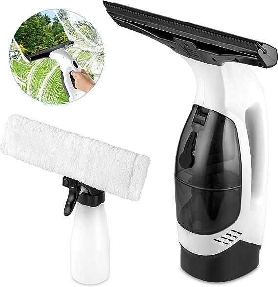 Aidodo Limpiador de Ventanas Eléctrico Aspirador de Ventana sin Cable,Aspirador Limpiacristales con labio de goma: Amazon.es: Bricolaje y herramientas