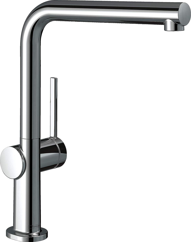 hansgrohe K/üchenarmatur Talis M54 Schwarz Wasserhahn K/üche, 360/° schwenkbar, hoher Komfort-U-Auslauf 220mm, Standardanschl/üsse