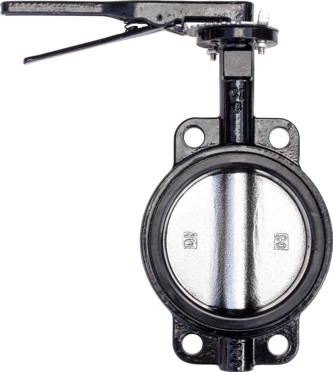 IrrigationKing RKLO6 Cast Iron Butterfly Valve, Lever Style, EPDM, Black, 6''