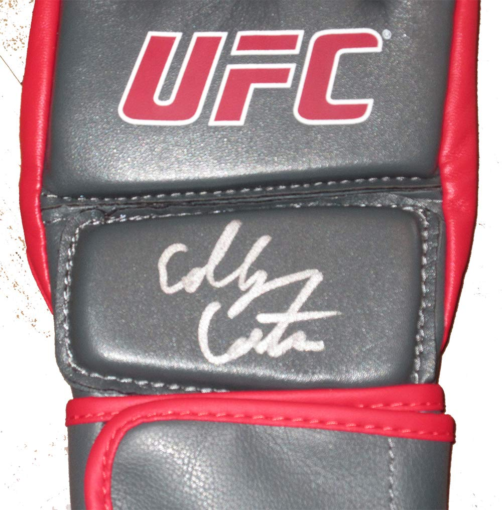 Colby Covington Autographed UFC Training Distress Fight Glove W/PROOF, Picture of Colby Signing For Us, Ultimate Fighting Championship, UFC, Champion, Tyronn Woodley, Mcgregor, Aldo, Penn, Silva