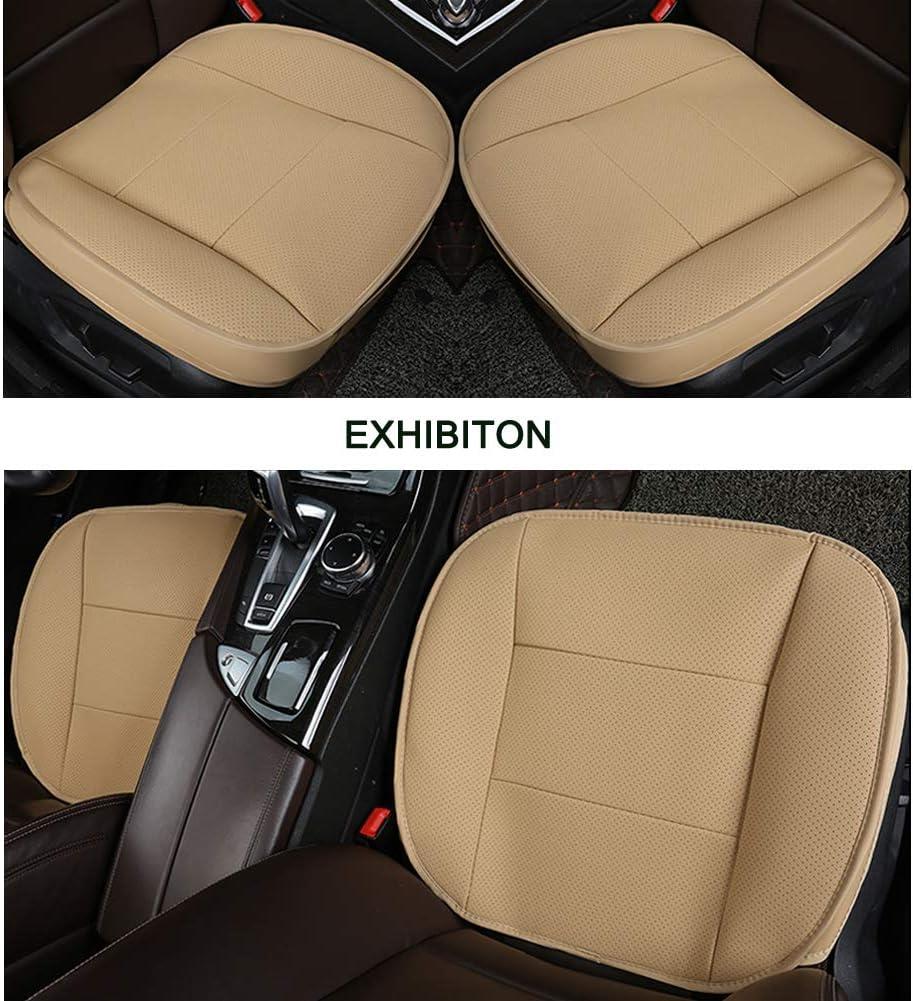 1 Pezzo Nero LUOLLOVE Coprisedile Universale Auto Anteriori Super Soft Confortevole Traspirante PU Protezione per Sedile Auto
