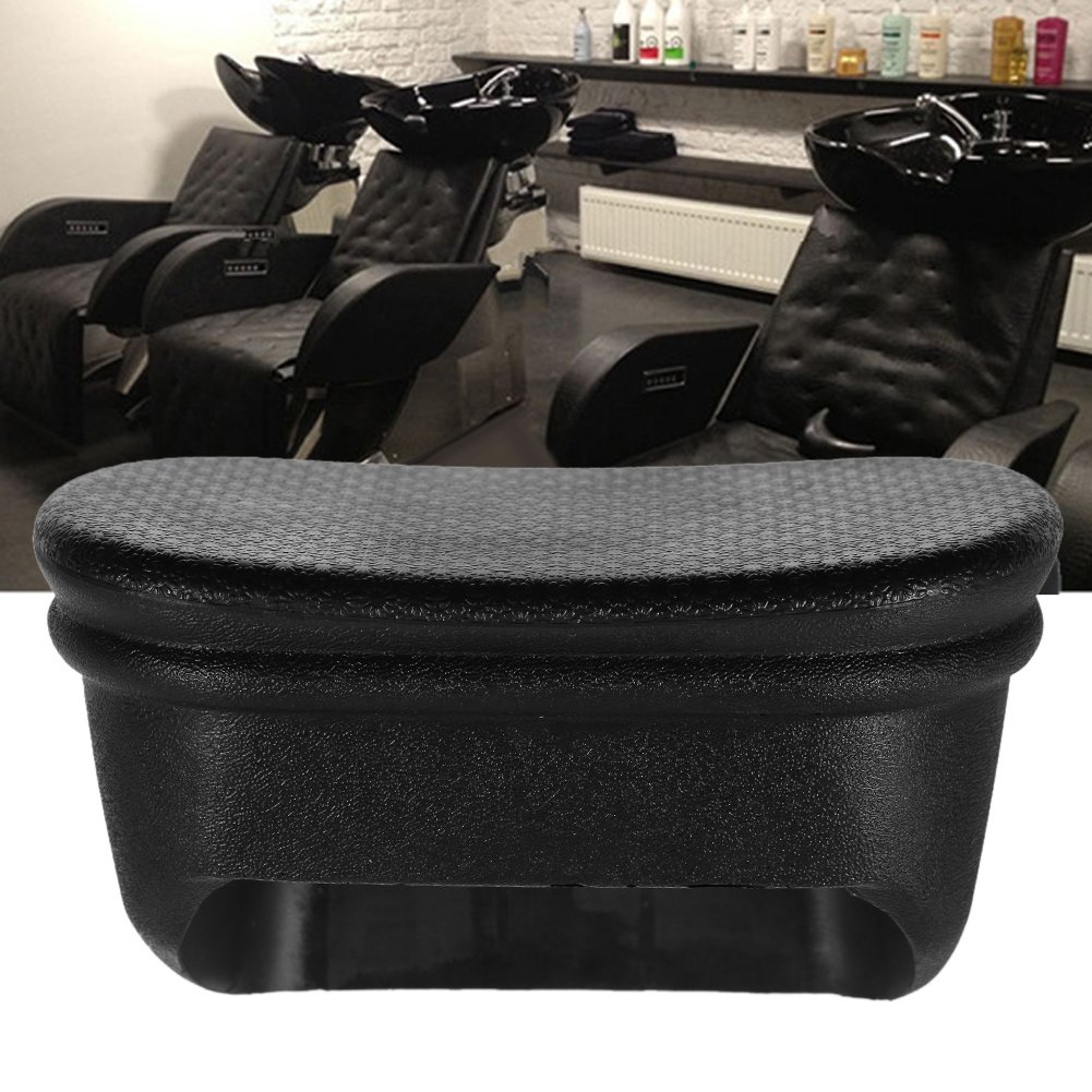Shampoo Bowl Neck Rest Pillow,Black PU Hair Washing Tools Spa Hot Tub Wash Sink Headrest Beauty Salon Hairdressing Professional Accessories (M)