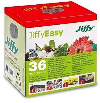 Pastillas/Tacos de Turba Prensada para cultivo Jiffy 7-36mm (36x): Amazon.es: Jardín