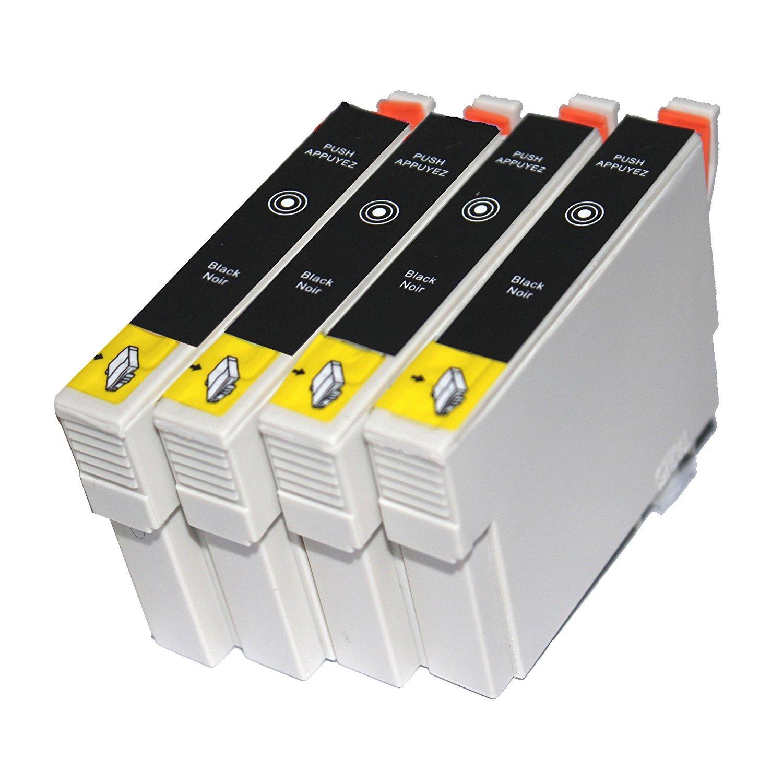 TiAN - 4 Negro Compatible cartuchos de tinta T0611 reemplazar para ...