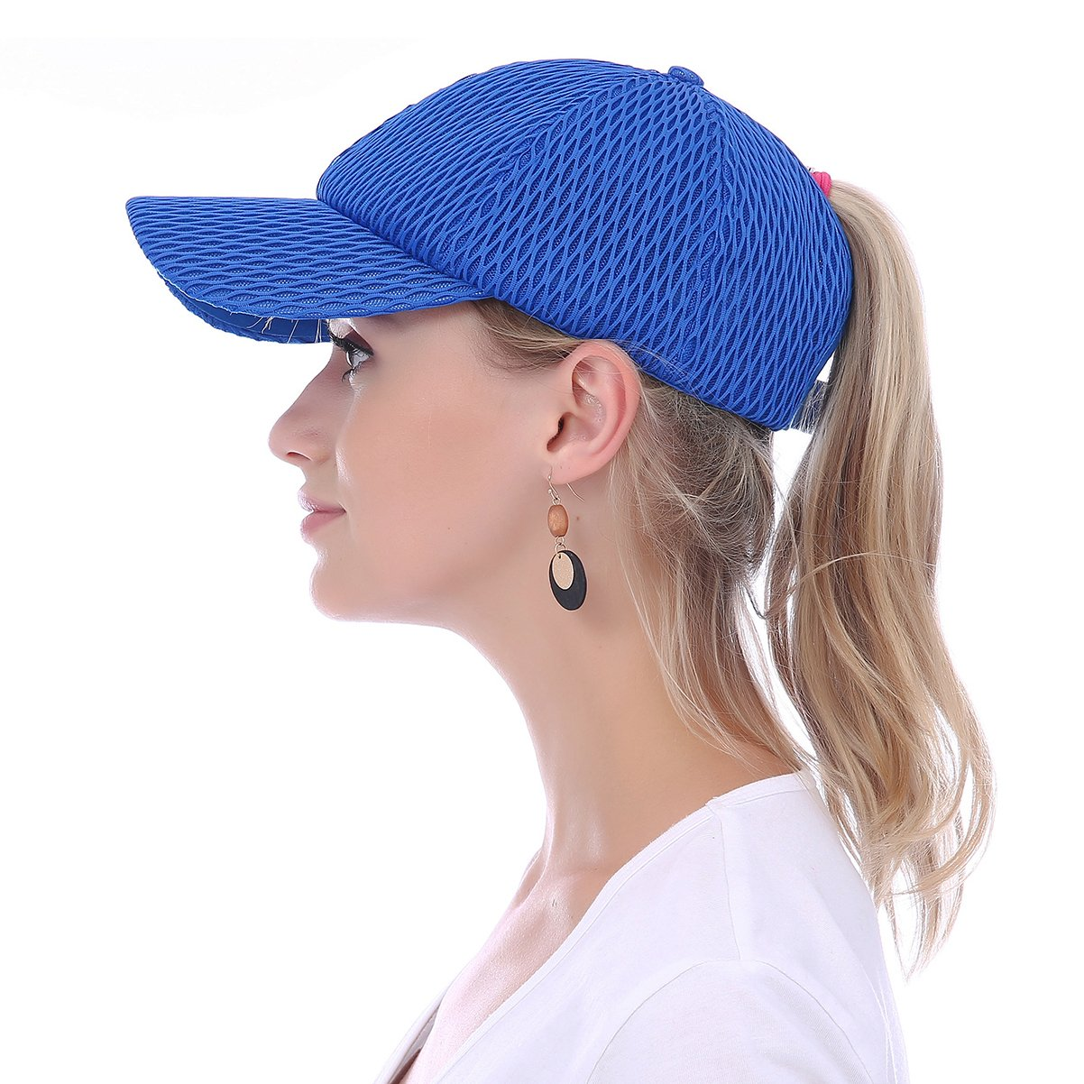 JAKY Global Women Ponytail Baseball Cap Messy Bun Adjustable Mesh Trucker  Sport Hats(Blue) at Amazon Women s Clothing store  8035d187fe9