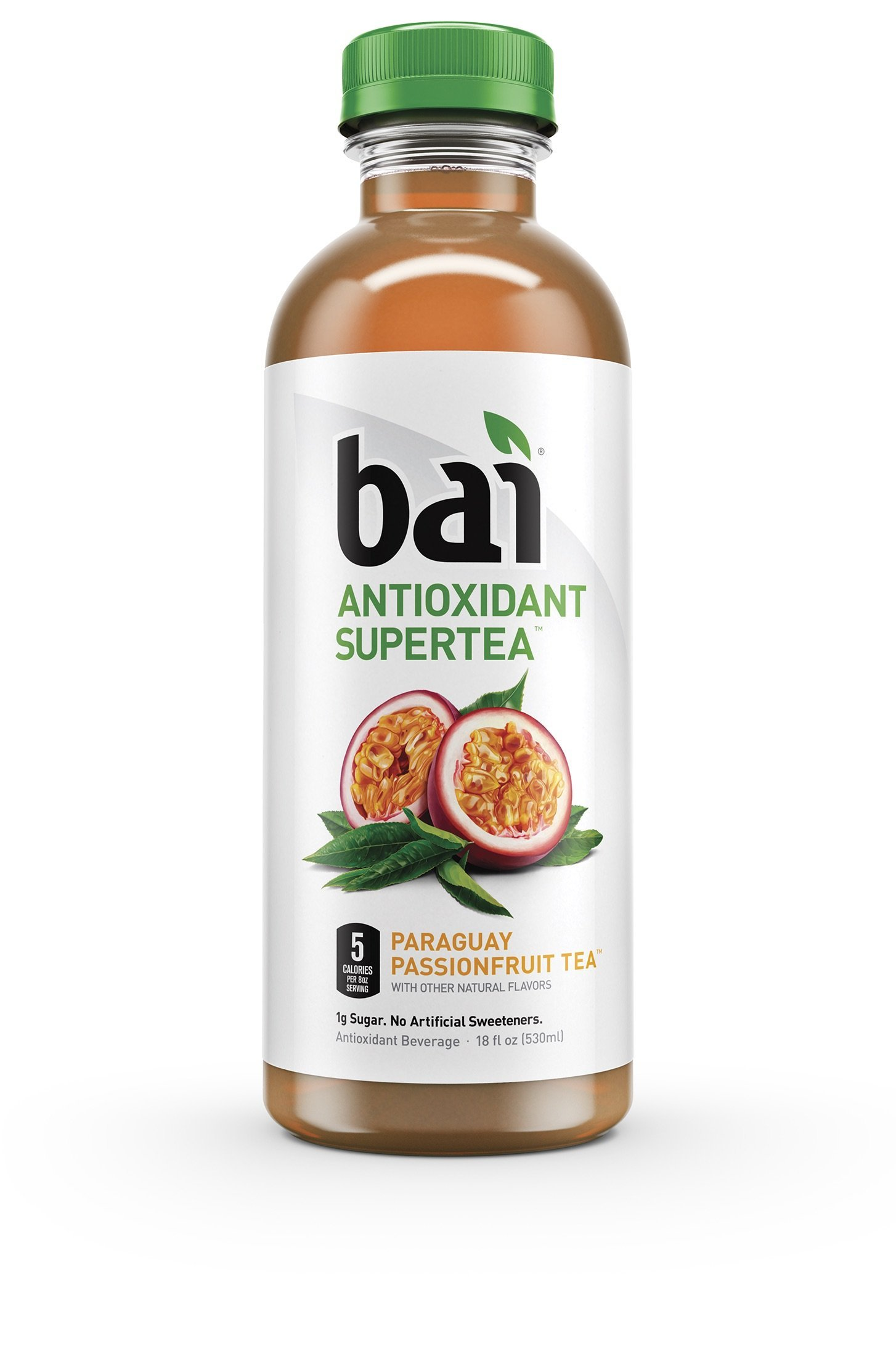 Bai Paraguay Passionfruit Tea, Antioxidant Infused Beverage, 18 Ounce (Pack of 6)