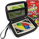FitSand (TM) Zipper Carry Travel EVA Hard Case for UNO Splash Card Game - Black Box, Blacker Box, Best Protection for UNO Splash Cards