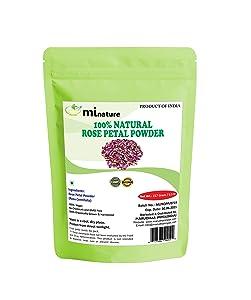 Organic Rose Petal Powder, Chemical Free 100% Natural, Antiageing Cooling, for Skin Care, Facial Mask, 227g, 1/2lbs, 8oz