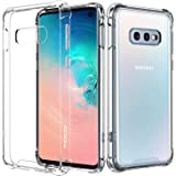 MoKo Compatible with Galaxy S10e Case, Crystal Clear Reinforced Corners TPU Bumper and Anti-Scratch Transparent Hard Panel Cover Fit with Samsung Galaxy S10 e 5.8 inch 2019 - Crystal Clear