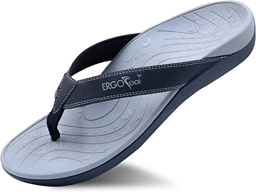 top fashion best online big sale ERGOfoot Orthotic Flip Flops Stylish Thong Sandals Ultra Comfort Slippers  for Women & Men with Arch Support-Walking Comfort for Flat Feet & Heel Spur