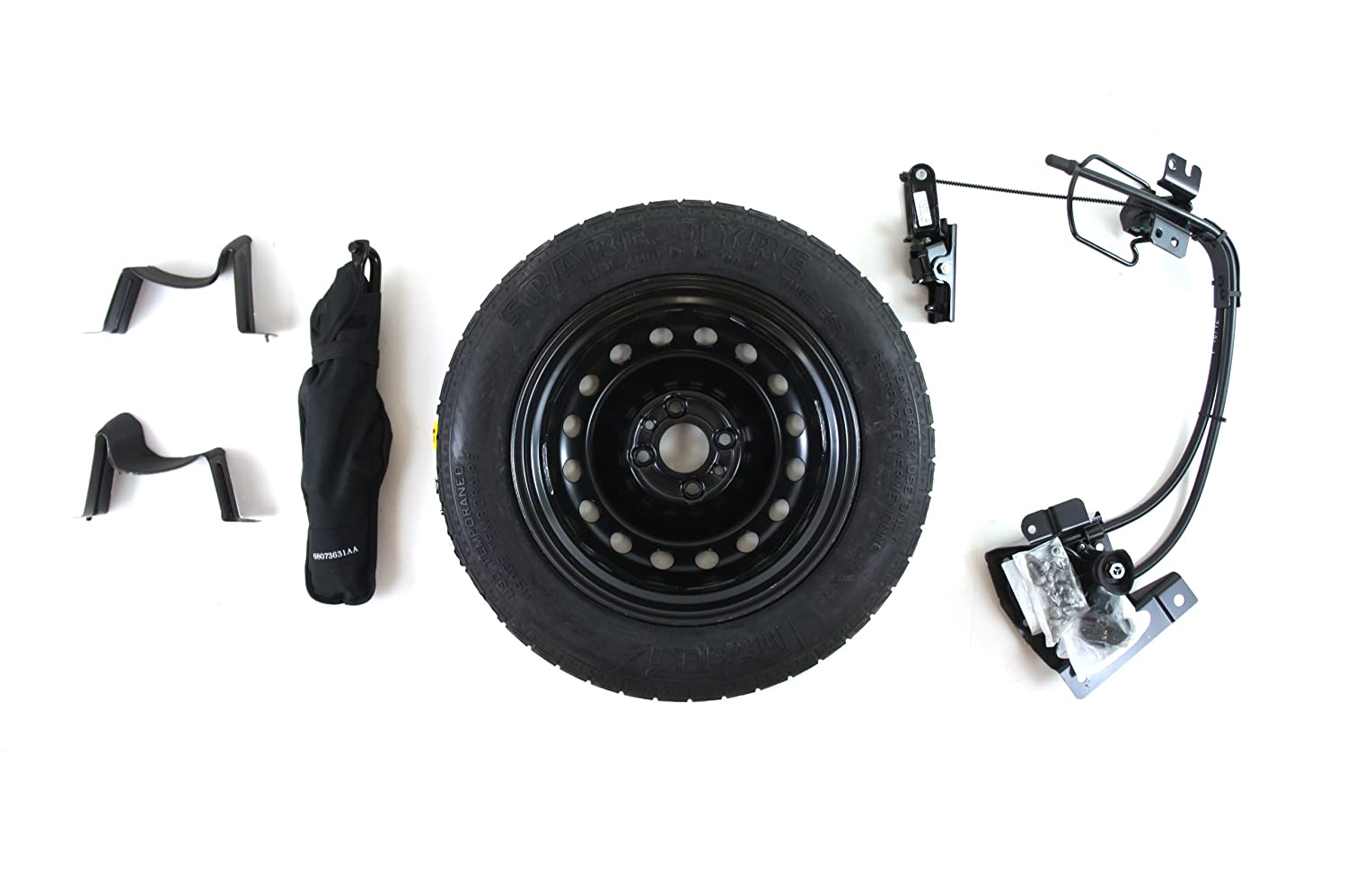 Fiat 500 Spare Tire Location Genuine Accessories 82212995 Kit 500c Automotive