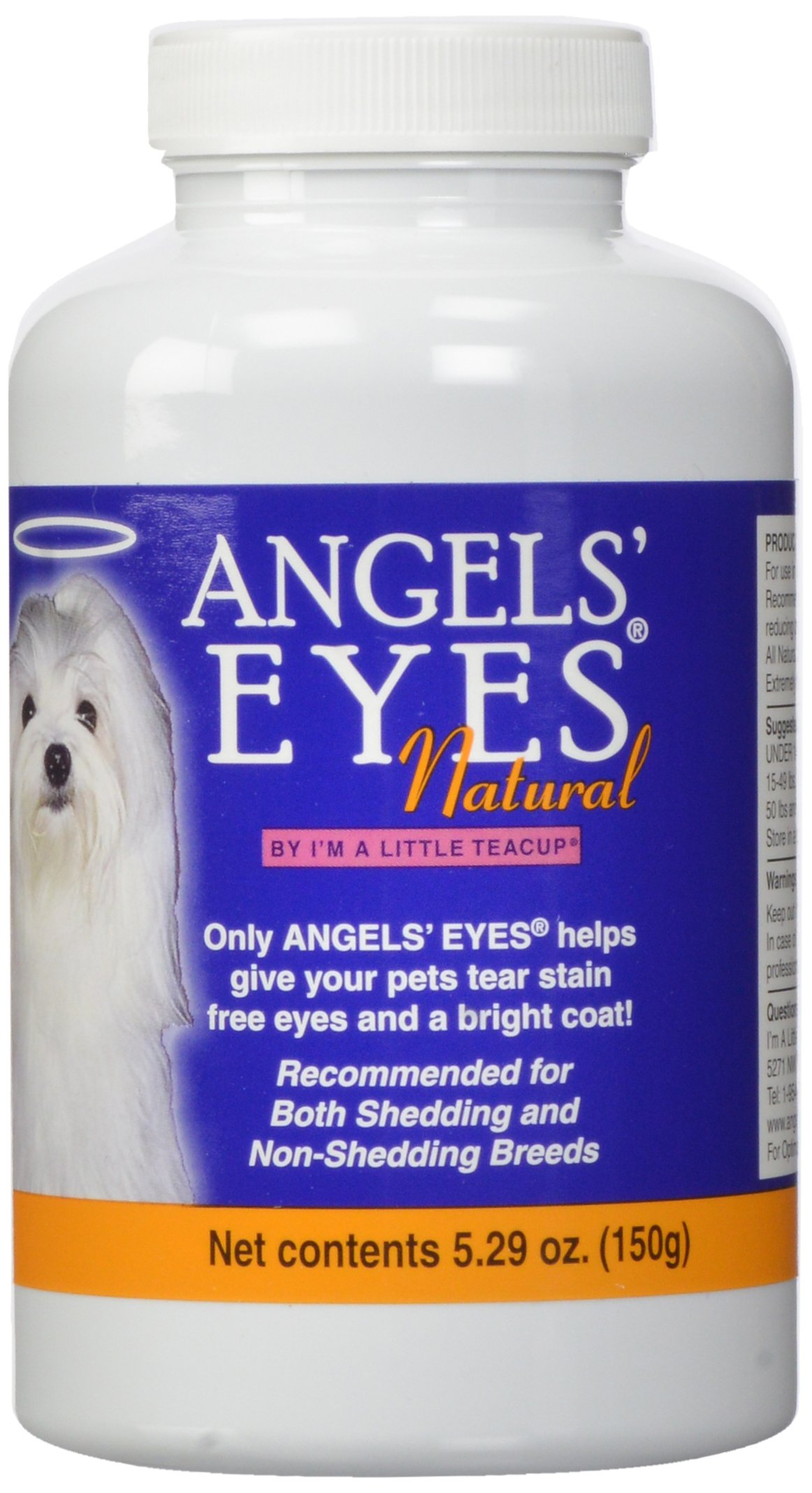 ANGELS' Eyes Natural Tear Stain Eliminaton and Remover, Chicken Flavor, 300 gm by Angel's Eyes