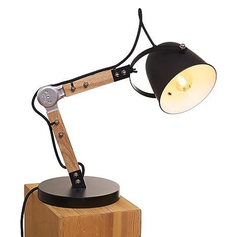 Lampada Da Tavolo Design.Opis Tl1 Lampada Da Tavolo Design Vintage In Legno E Metallo Lampada Da Scrivania Classica Metallo E Legno